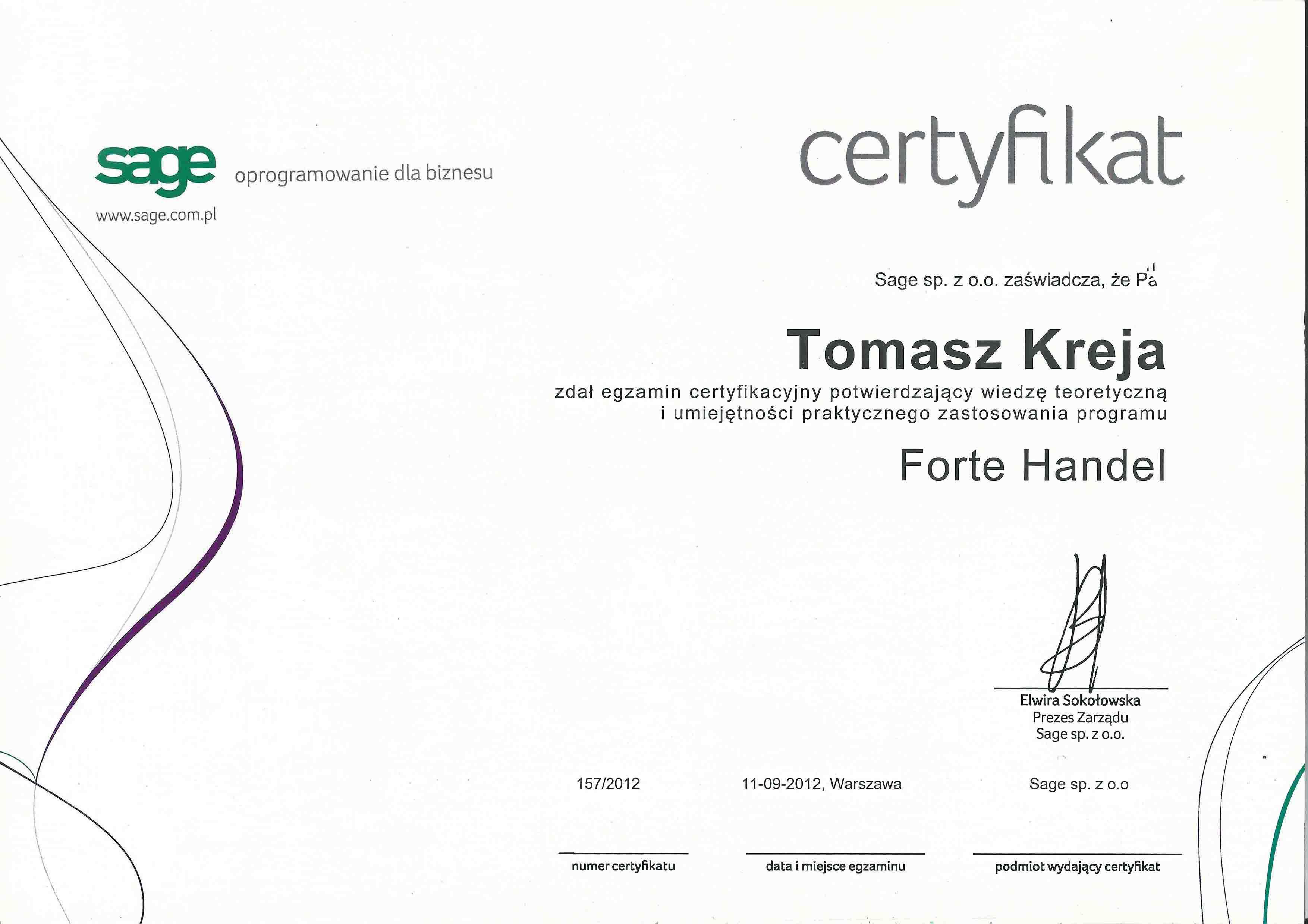 Certfikat_FORTE_Handel