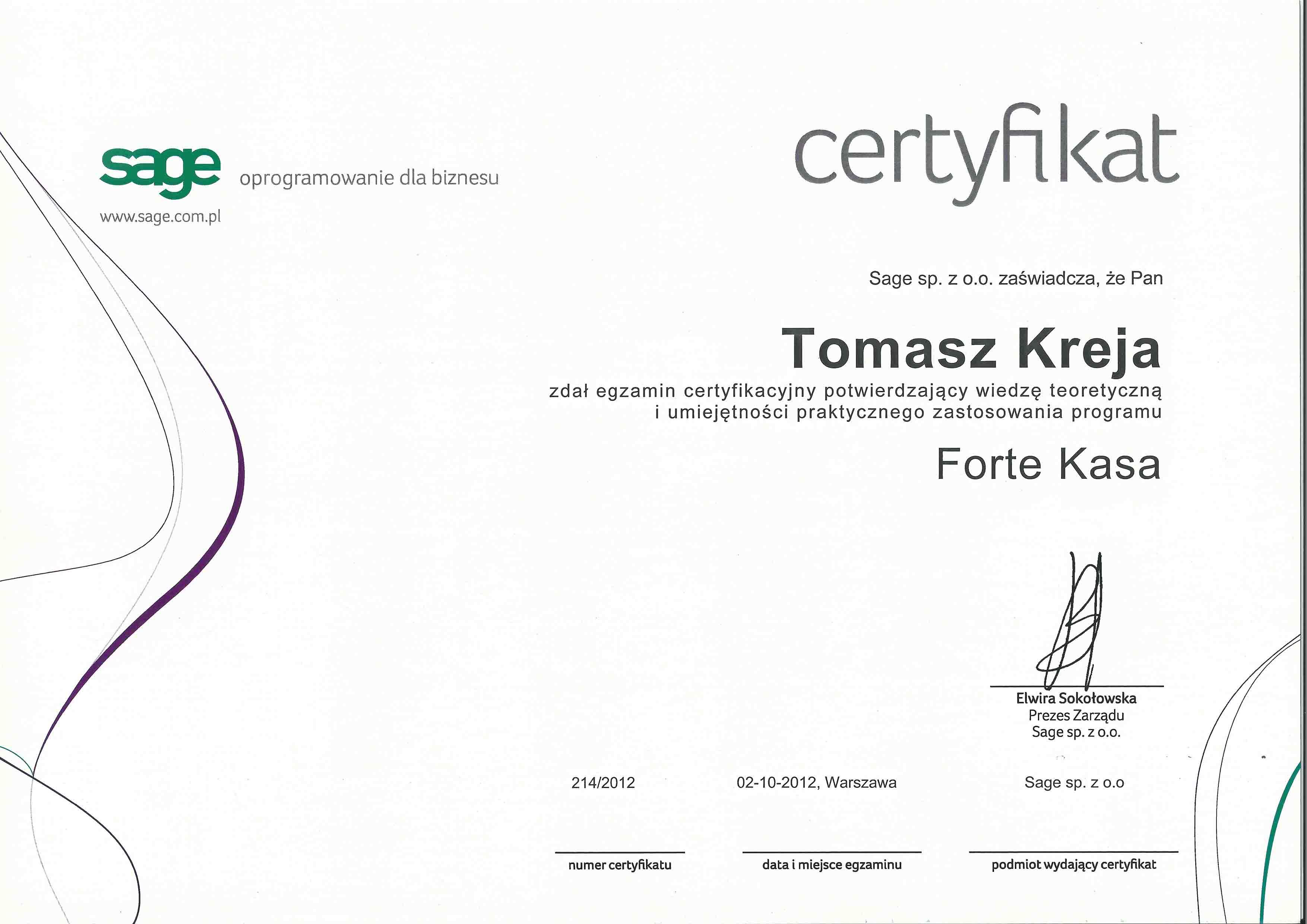 Certfikat_FORTE_Kasa