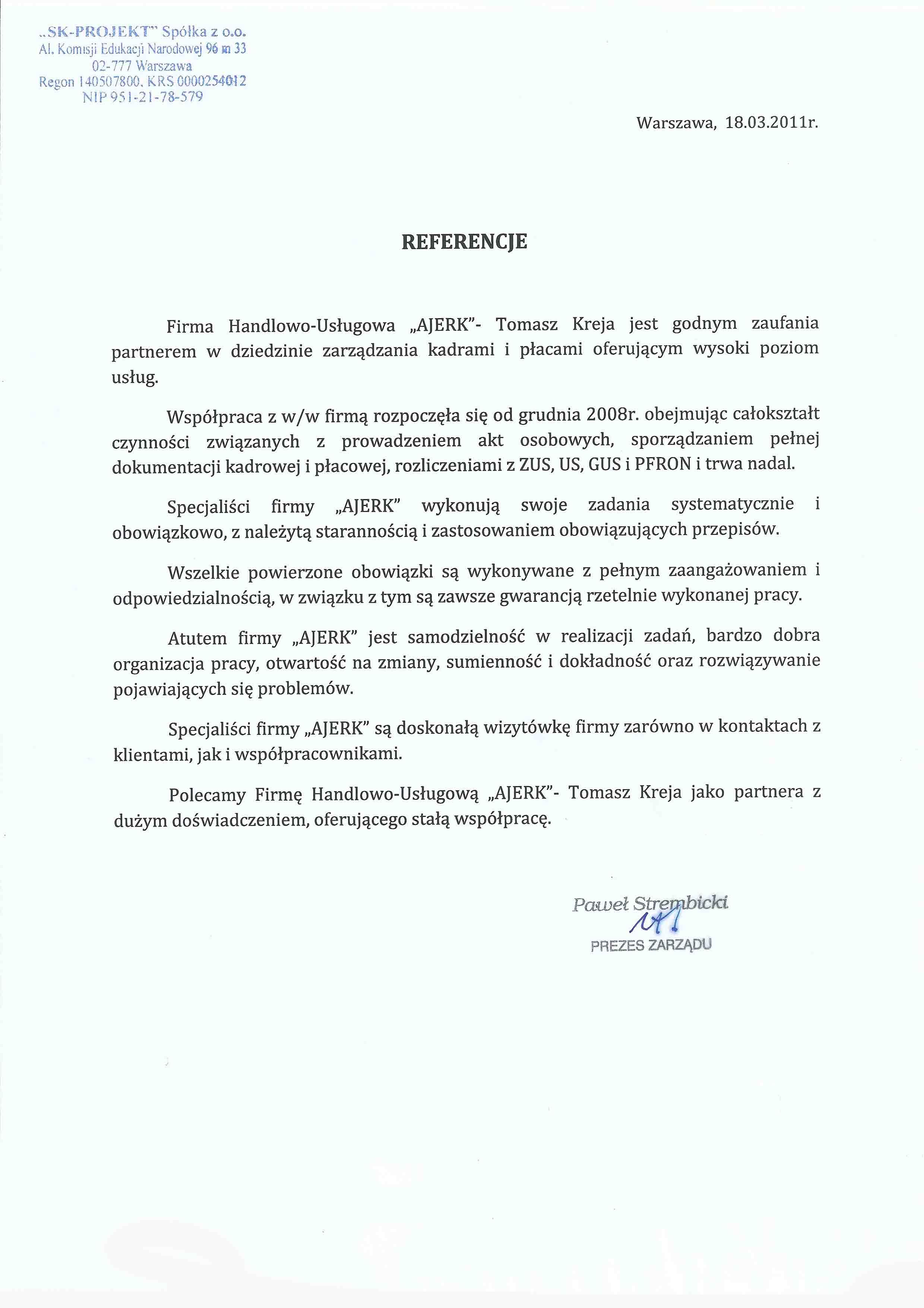 ReferencjeSK Projekt